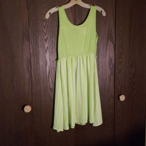 Dresses & Skirts - Chartreuse striped dress